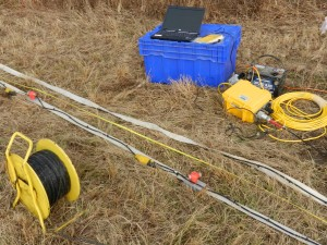 Geometrics Geode Seismograph and Geostuff Landstreamer